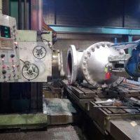 Valve face machining